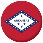 Arkansas State Flag 58mm Mirror Keyring